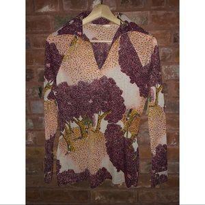 Vintage Van Gough Style Retro Long Sleeve Shirt